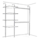 Aluminium Stanchion Kit 1 (with Shelves & Hanging) - image #1