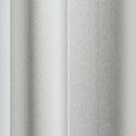 Natural silver aluminium sliding wardrobe door frame & track image