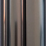 Polished Graphite aluminium sliding wardrobe door frame and track sample