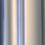 Polished Silver aluminium sliding wardrobe door frame and track sample