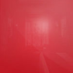 Luminous Bright Red Glass for sliding wardrobe doors