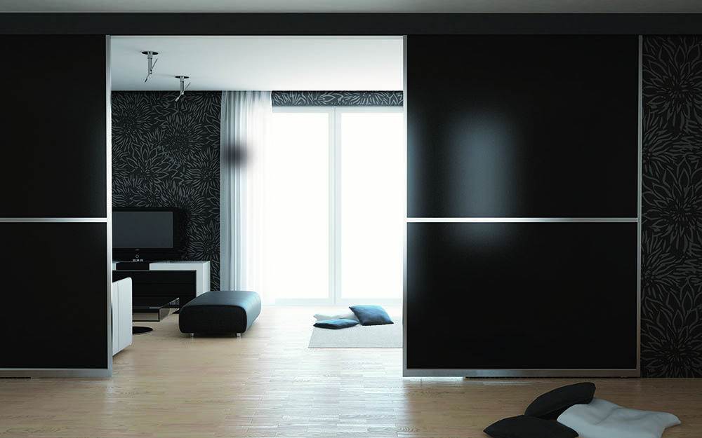 Black Matelac Sliding Partition Doors2