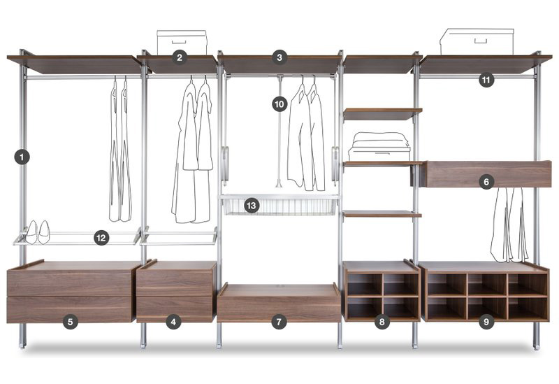 Space Pro Relax Storage System All Components